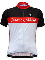 JESOCYCLING® Cycling Jersey Men's Short Sleeve Bike Jersey Breathable Quick Dry Back Pocket Cycling Wear