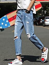 2017 hommes&# 39; s neuf trous dans un jean slim jeune version coréenne de Sarouel pieds 9 pantalons marée mâle