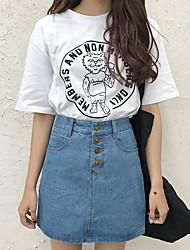 Really making Korea the new norm in Europe and America retro AA breasted button no bombs denim skirt skirts skirt