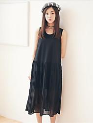 модальный пассивом жилет внутри взять в складку юбки платье длинный участок рыхлой шифона платье
