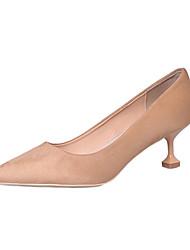 Damen-High Heels-Kleid Lässig-PU-Kitten Heel-Absatz-Komfort-Schwarz Khaki