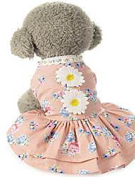 Chien Robe Vêtements pour Chien Hiver Eté Printemps/Automne PrincesseMignon Mariage Anniversaire Vacances Mode Décontracté / Quotidien