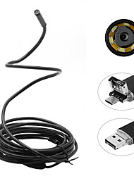 2 in 1 2m 5.5mm 6leds starren Kabel android Endoskop wasserdichte Inspektion Kamera Mikro-USB-Videokamera