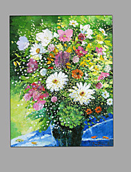 Hand Painted Oil Painting Impression Flowers Painting Canvas with Stretched Framed Ready to Hang