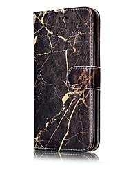 Pour Portefeuille Porte Carte Avec Support Clapet Motif Coque Coque Intégrale Coque Marbre Dur Cuir PU pour HuaweiHuawei P10 Lite Huawei