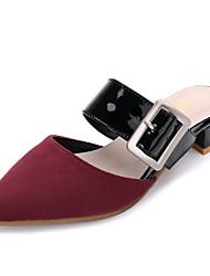Women's Sandals Summer Comfort Suede Dress Low Heel