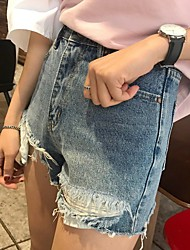 Nett really making Korea the new mill ragged hole was thin denim shorts
