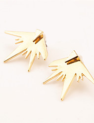 Non Stone Triangle Shape Stud Earrings Jewelry Geometric Euramerican Fashion Cross Daily Casual Alloy 1 pair