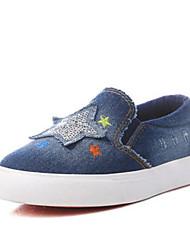 Para Meninas-Tênis-Conforto-Rasteiro-Azul Escuro-Jeans-Ar-Livre Casual