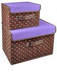 2pcs Storage Boxes Storage Units Storage Baskets Non-woven withFeature is Lidded  For Cloth