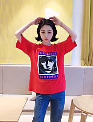 T-shirt d'impression de tête de personnalité de vent de harajuku de vrais t-shirts