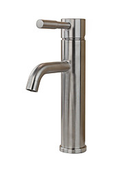 Contemporary Country Modern Standard Spout Vessel Rain Shower Widespread with  Ceramic Valve Single Handle One Hole for  Stainless Steel,