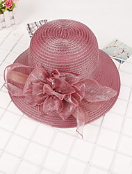 Summer Lady Flower Straw Hat Beach Cap Sun Hat for Women