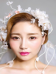 Fabric Headpiece-Wedding Special Occasion Casual Outdoor Headbands Flowers Wreaths Hair Clip Hair Tool 1 Piece
