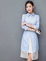 2017 Women Korean version of the new spring lace shirt temperament stripe dress fashion piece skirt suit