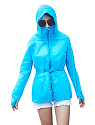 Women's Going out Beach Holiday Simple Spring Summer JacketSolid Hooded Long Sleeve Long Nylon Sunscreen Jacket