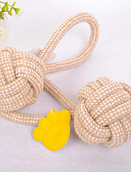 Dog Toy Pet Toys Chew Toy Rope Cotton Beige