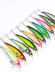 10PCS 11CM Road Bait Rice if the 10-color Fish Bait Alice Mouth lore