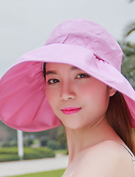 Women 's Summer Sunscreen Anti-UV Shade Candy Color Empty Top Sun Foldable Hat
