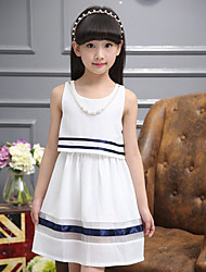 Girl's Going out Holiday Striped Dress,Cotton Summer Sleeveless