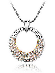 Women's Pendant Necklaces Crystal Round Chrome Unique Design Jewelry For Daily