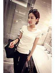 2017 Summer Korean version of the black female white short-sleeved t-shirt Slim was thin round neck compassionate lady bottoming shirt