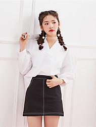 Signer la nouvelle version coréenne de printemps 2017 de la petite chemise à manches mignonnes et sauvages