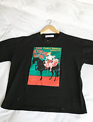 Harajuku bf wind cartoon short-sleeved t-shirt female students 65-35 cotton fabrics