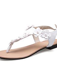Women's Sandals Summer Fall Slingback PU Office & Career Party & Evening Dress Flat Heel Flower
