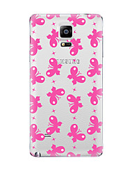 Für Transparent Muster Hülle Rückseitenabdeckung Hülle Schmetterling Weich TPU für Samsung Note 5 Note 4 Note 3 Note 2