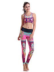 Femme Sans manche Course / Running Soutien-Gorges de Sport Leggings Pantalon/Surpantalon Ensemble de Vêtements/Tenus BasSéchage rapide