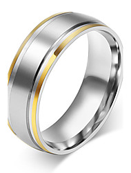 New Gold Plated Rings 316L Stainless Steel Rings for Men Women Engagement Wedding Classic jewelry Size 4 to 14 R-002