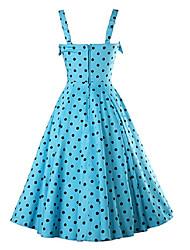 2016 Primavera do ponto azul onda vestido aproveitar grande saia de algodão longa seção fina de vestido de princesa tamanho grande