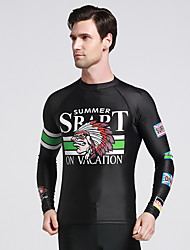Sports Men's Wetsuit Top Breathable Quick Dry Anatomic Design Neoprene Diving Suit Long Sleeve Tops-Diving Spring Summer Classic