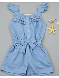 Girl's Casual/Daily Holiday School Solid Dress Summer Short Sleeve
