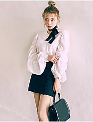 Spot spring new Han Guoguan network temperament ruffle blouse