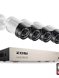 ZOSI® 4CH 1080P HDMI P2P TVI DVR Surveillance System Video Output 4PCS 2000TVL 2.0MP IP Camera Home Security CCTV Kits 1TB HDD