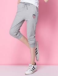 aluna da calça de algodão sinal solta grandes estaleiros coreanos ostenta calça casual de corrida yoga quinta