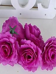 1 Ramo Fibra Peônias Flor de Mesa Flores artificiais 10*10*6