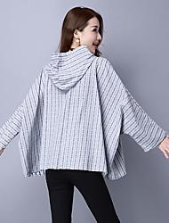 Sign spot cotton ladies blouses autumn bat sleeve cardigan jacket Literary linen shirt