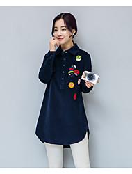 hiver plus de velours côtelé chemise coton coréen shirt loose sauvage casual manches longues et longues sections chemise creux de la vague