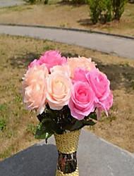 1 Une succursale Fibre Roses Fleur de Table Fleurs artificielles 30*30*37