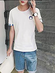 Sommer neue Männer&# 39; s kurz-sleeved T-Shirt die Farbe der Hemd-Manschetten Aberdeen Wind