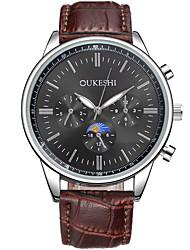 Masculino Relógio Elegante Relógio de Moda Relógio Casual Chinês Quartzo PU Banda Legal Casual Marrom Branco Preto Marron Azul