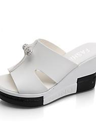 Damen-Sandalen-Kleid Lässig-PU-Keilabsatz-Komfort-
