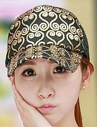 Women 's Vintage Heart-shaped Printed Sequins Shade Baseball Cap Breathable Mesh Hat