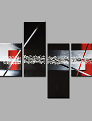 Hand-Painted Abstract Any Shape Modern Four Panels Canvas Oil Painting For Home Decoration