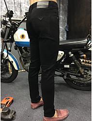Herren Einfach Hohe Hüfthöhe Micro-elastisch Jeans Skinny Hose einfarbig