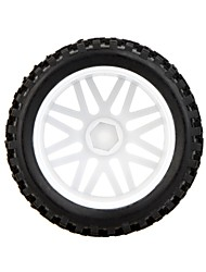 GoolRC 2Pcs High Performance 1/10 Off-Road Car Rear Wheel Rim and Tire 66032 for Traxxas HSP Tamiya RC Car