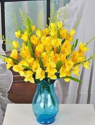 1 Ast Faser andere Tisch-Blumen Künstliche Blumen 25*25*40